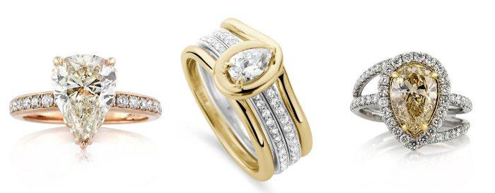 79117c208d0abc Pierścionek zaręczynowy a osobowość i styl: kształt łezki [TRENDY ...